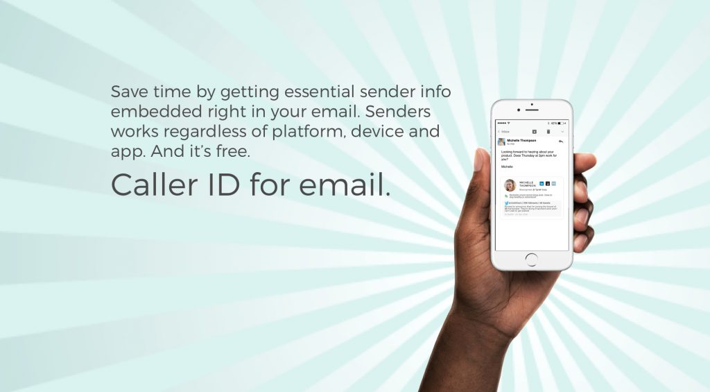 Senders: Caller ID for Email